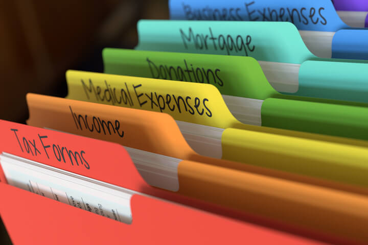 Colorful tax folders free image download