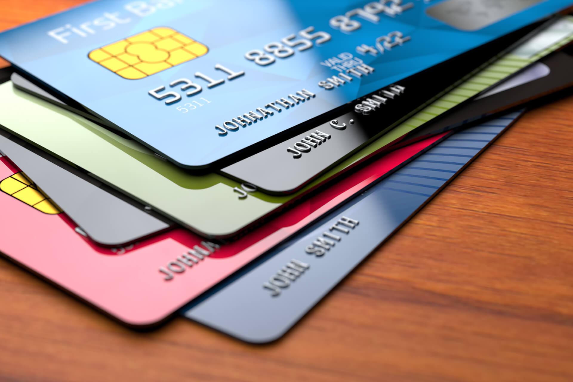 Stack of credit cards free image download